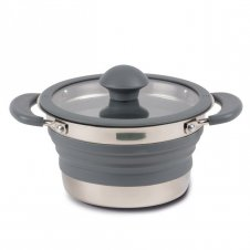 Collapsible saucepan 1L grey
